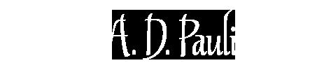 A. D. Pauli, Fantasy Writer
